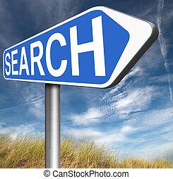 online, busca