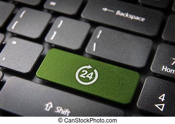 Online business always open concept