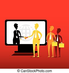 online business concept design