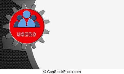 Online business concept - Online business. Computer...
