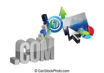 online business graphs illustration design