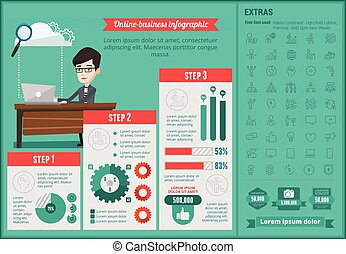 Online-business infographic template.