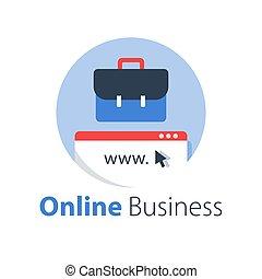 Online business, internet startup, e-commerce concept