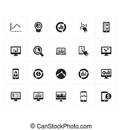 Online Business Report Icons - Gray Version(Set 1)