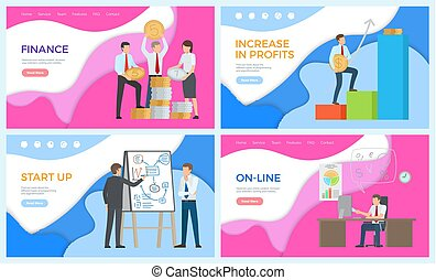 Online Business Working Man, Financial Level Up