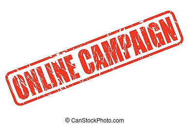 Online campaign red stamp text