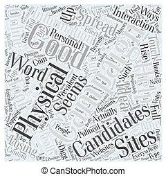Online Campaigns Word Cloud Concept