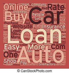 Online Car Loans text background wordcloud concept
