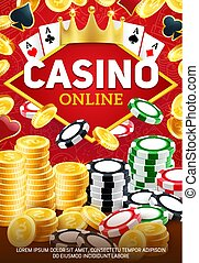 Online casino and betting chips, gambling game