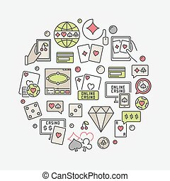 Online casino colorful illustration