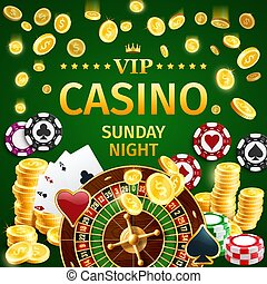 Online casino gambling with roulette and poker