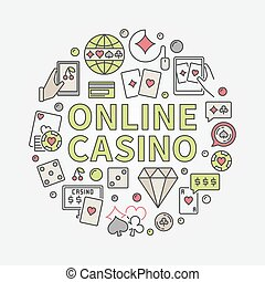Online casino round illustration
