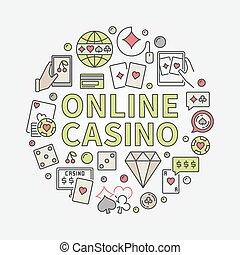 Online casino round illustration