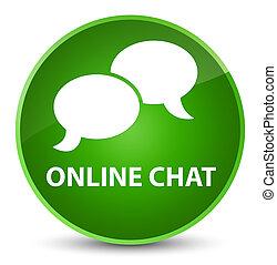 Online chat elegant green round button