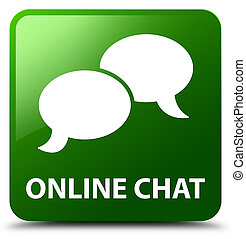 Online chat green square button