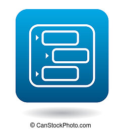 Online chat icon, flat style