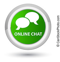 Online chat prime green round button
