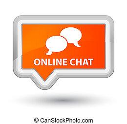 Online chat prime orange banner button