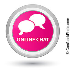 Online chat prime pink round button