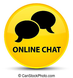 Online chat special yellow round button