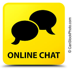 Online chat yellow square button