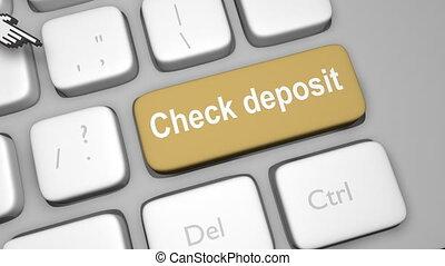 Online check deposit shot clip