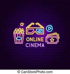 Online Cinema Neon Sign