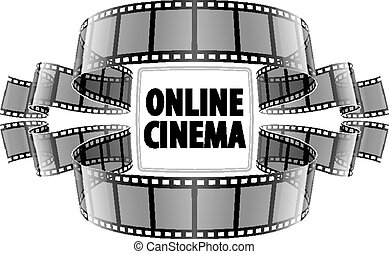 Online cinema video film. Eps10 vector illustration....