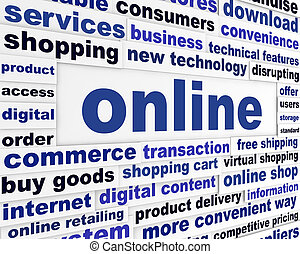 Online commerce business concept