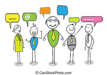 online community vector image