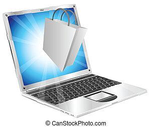 online, conceito, shopping