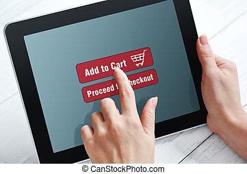 online, concept, shoppen