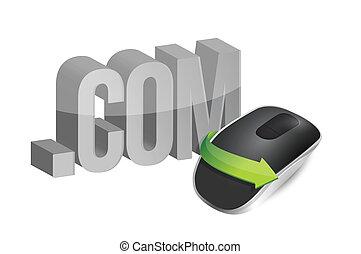 online concept Wireless computer
