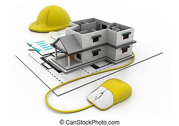 Online construction concept