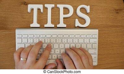 Online content tips concept shot clip