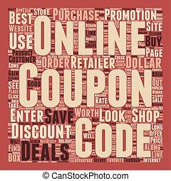 Online Coupon Deals text background wordcloud concept