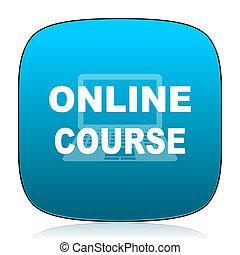 online course blue icon