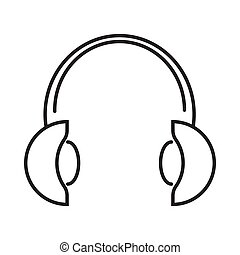 online course headset icon vector illustration design