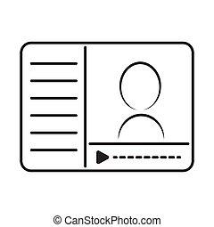 online course video panel icon vector illustration design