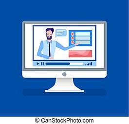 Online Courses Lead by Male Tutor Teacher on Video - Online...