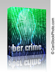Online crime box package - Software package box Cyber crime...
