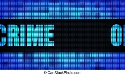 Online Crime Front Text Scrolling LED Wall Pannel Display...