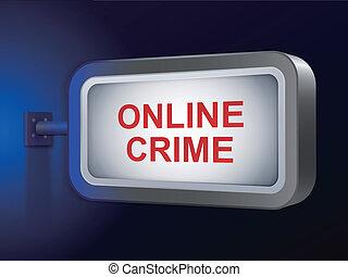 online crime words on billboard
