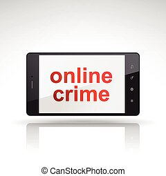 online crime words on mobile phone