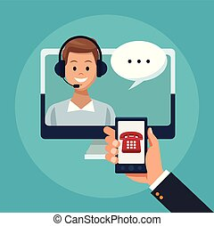 Online customer service and support