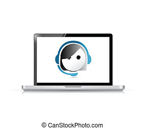 online customer support representative concept