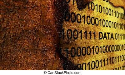 Online data grunge concept