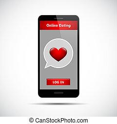 online dating app concept black smartphone