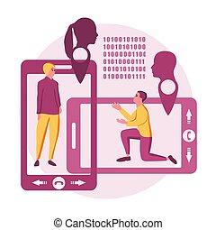 Online dating app concept