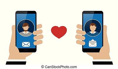 online dating between two homosexual men via smartphone